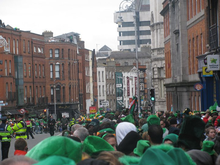Getting ready for the parade. How to celebrate St. Patrick's Day in Dublin, Ireland