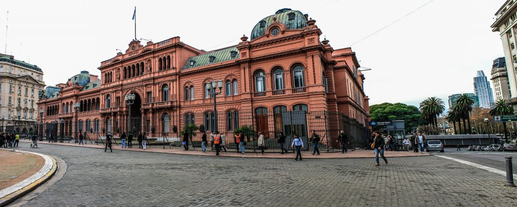 Casa Rosada (Pink House) in Buenos Aires, Argentina.  Things to do in Buenos Aires,