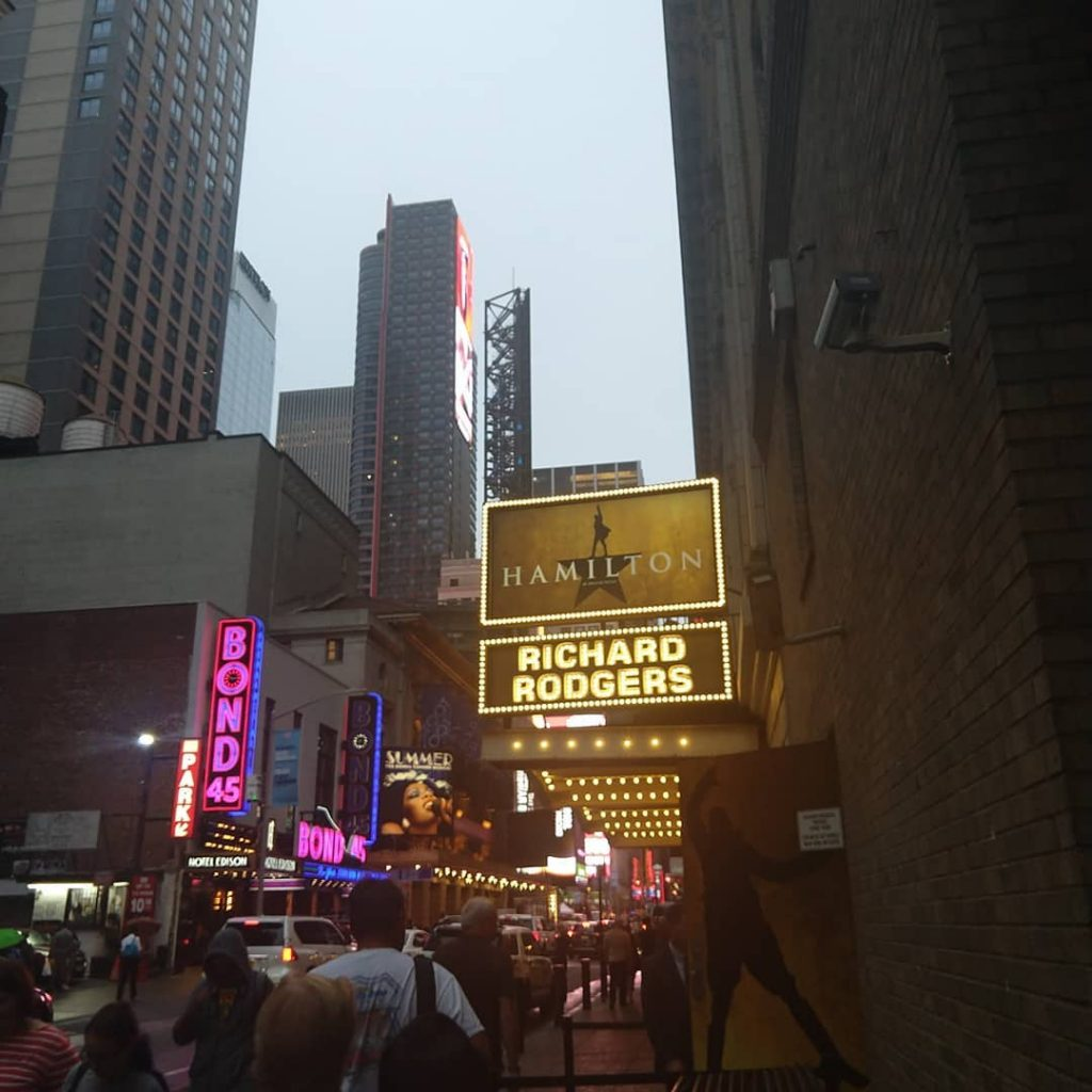 Richard Rodger's Theatre in NYC is home to the award winning musical. An icon of Hamilton's New York City.