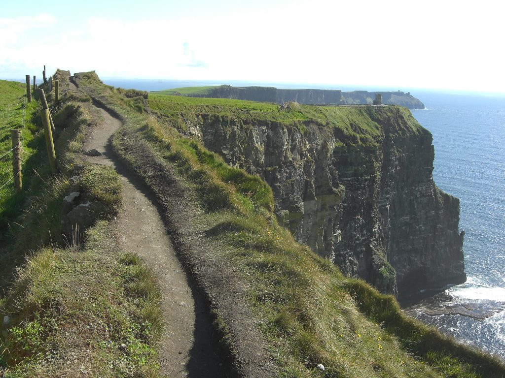 Path at the Cliffs of Moher, Ireland, Photo from Flickr