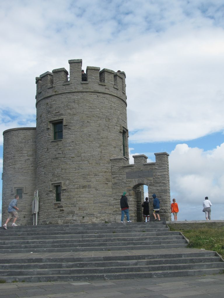 Close up of O'Brien's Tower, Cliffs of Moher, Ireland