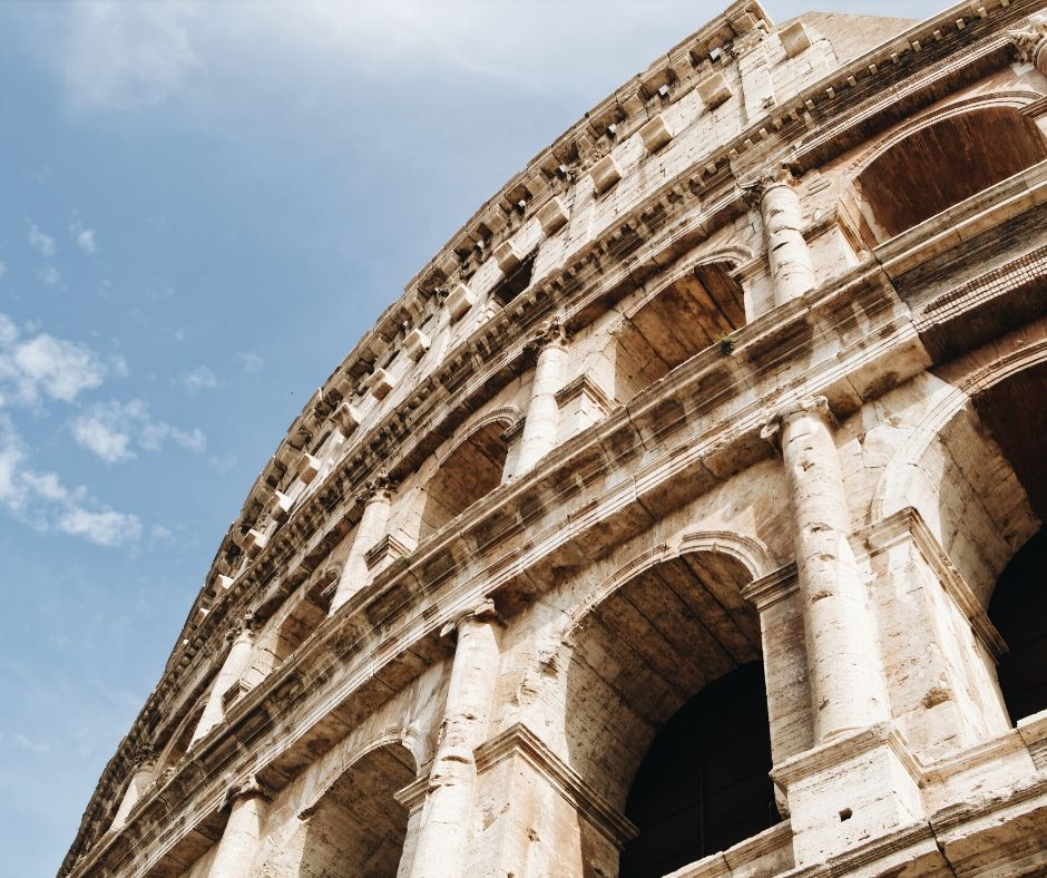 Fun facts about the Colosseum, Rome. The holes on the outside are from when the iron was pilfered during the middle ages.