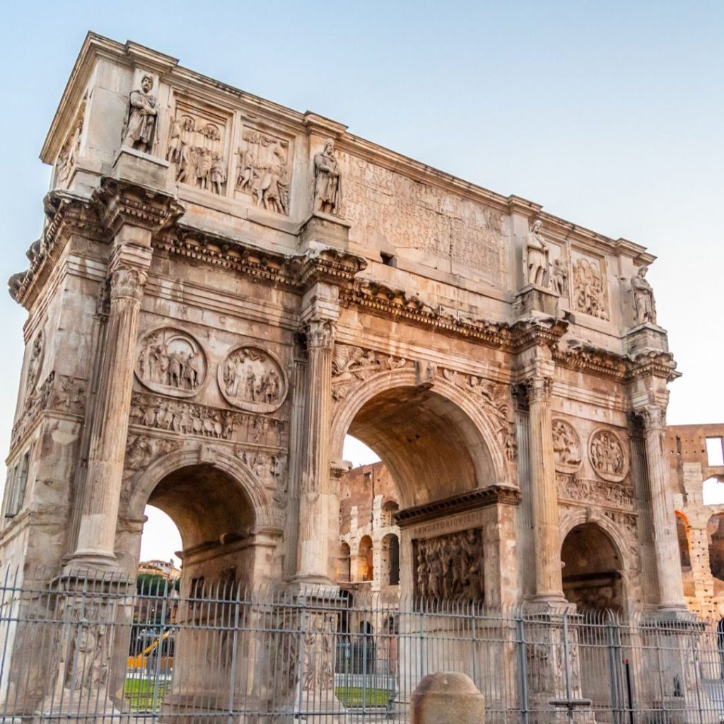 Fun facts about the Colosseum, Rome: The Arch of Titus depicts the story of the 60,000 slaves used to build the Colosseum.