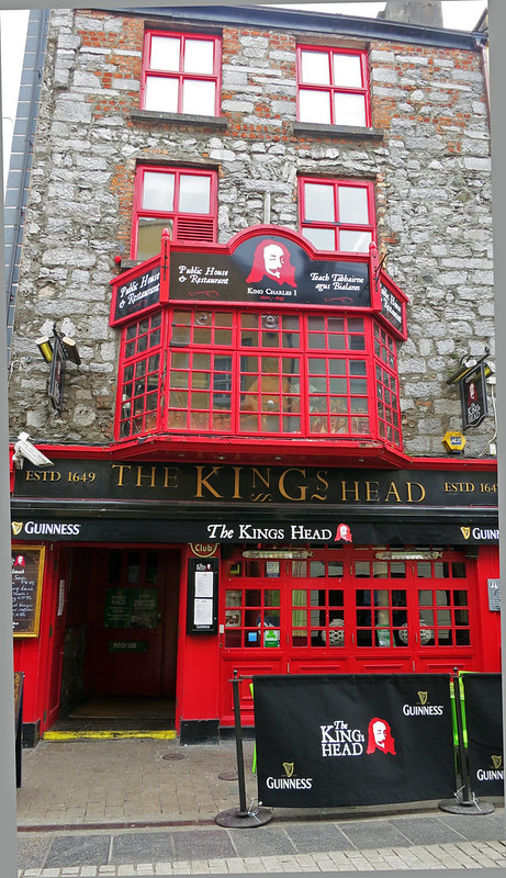 The King's Head is living history and a great place to eat during your two days in Galway.
