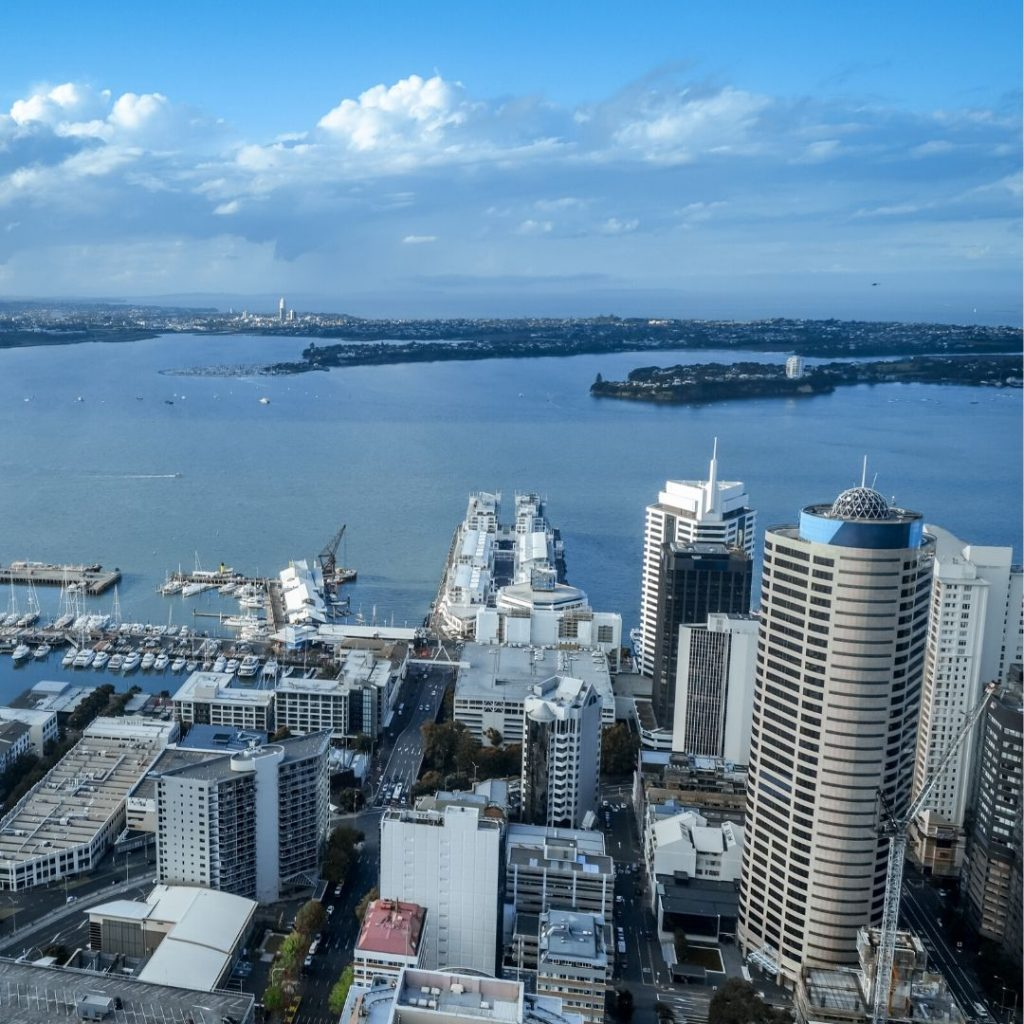The Auckland SkyTower is one of the top things to do in Auckland. On a clear day, you can see the entire Auckland Harbor.