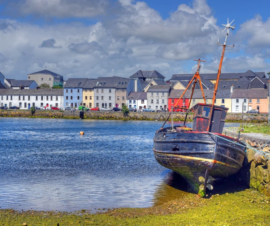 The colorful  houses of the Long Walk should not be missed during your two days in Galway