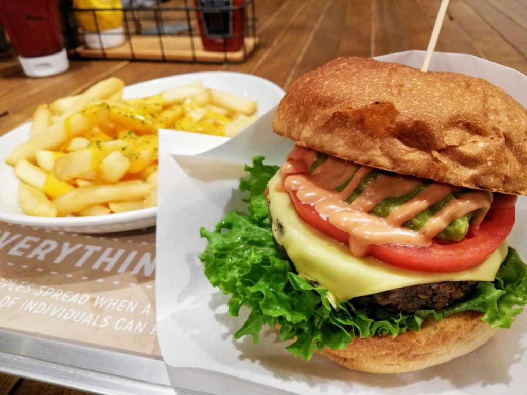 Ain. Soph Ripple vegan burger. One of the best places to eat in Tokyo for vegans.