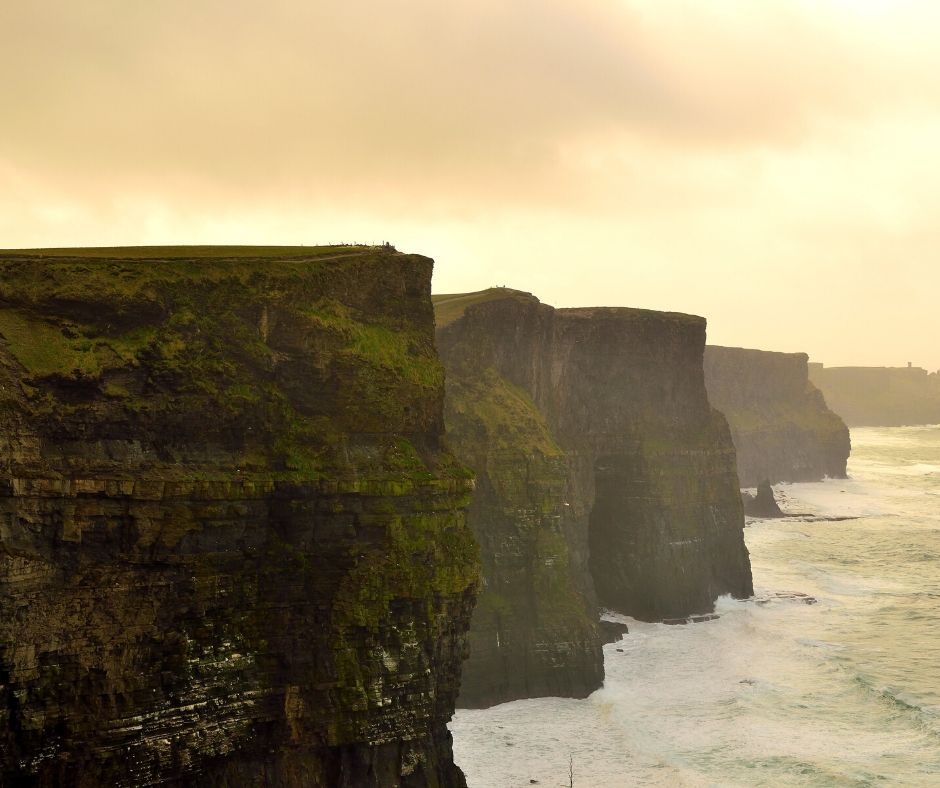 Cliffs of Moher are Ireland's most famous natural