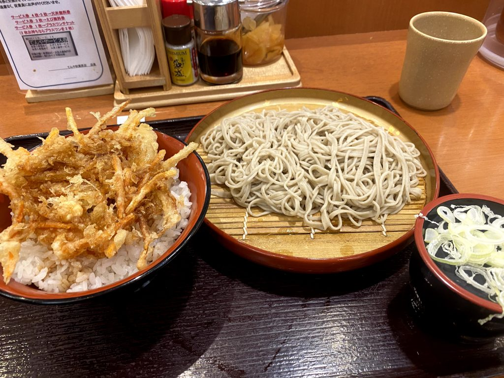 Fuji Soba meal out of a vending machine!    Best places to eat in Tokyo.