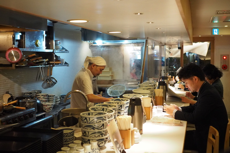 Taniya cooks hard at work. You can watch your food being made here.   Best places to eat in Tokyo.