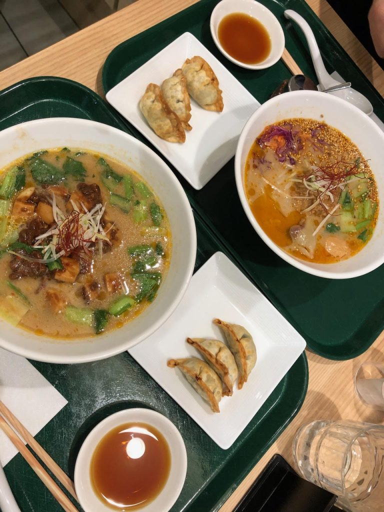 Meal at T's Tantan is quick but good! This vegan restaurant is a hidden gem of places to eat in Tokyo.