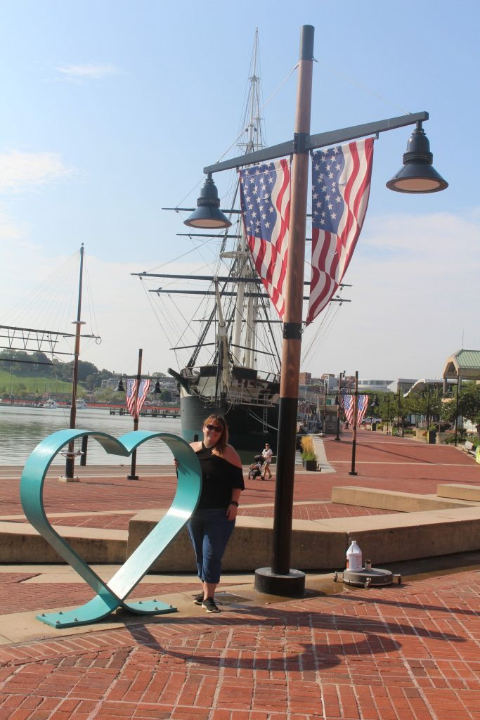 Strolling around the Inner Harbor. The USS Constellation is behind me. It should not be missed during your weekend getaway to Baltimore.