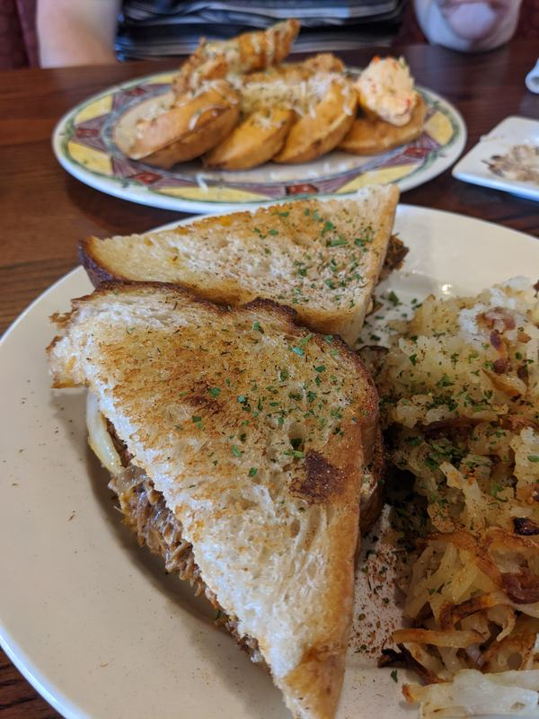 Pulled pork grilled cheese from Miss Shirley;s, one of the best places to eat in Baltimore.