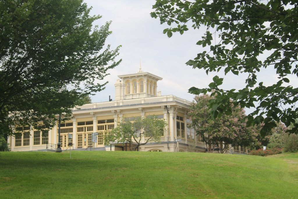 The beautiful conservatory in Druid Hill Park is a must-visit during your weekend getaway in Baltimore.