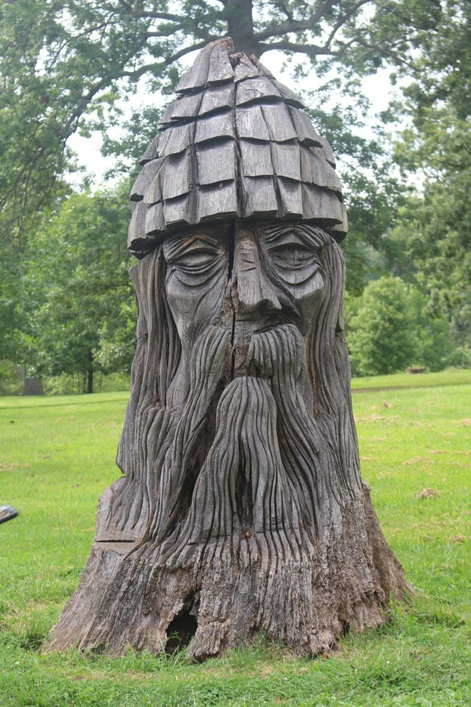 Spot the Druid at Druid Hill park! He's not as easy to find as you might think. The park is a must-visit during two days in Baltimore.