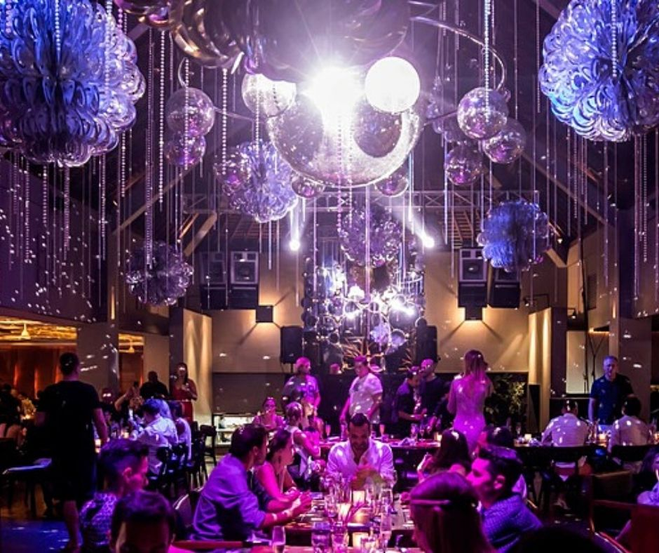 The incredible decorations in a restaurant make Bali one of the most unique places to celebrate NYE in the world.