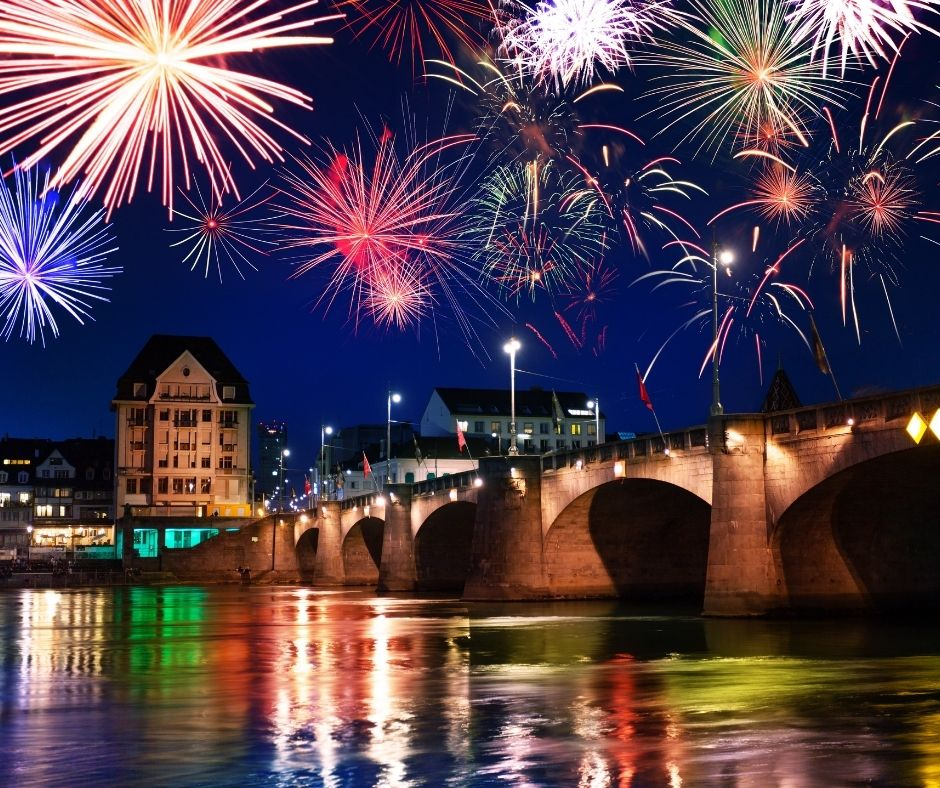 Fireworks in Switzlerand are a tradition to celebrate new years eve!