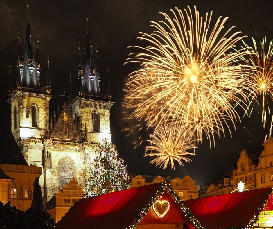Old Town Square, Czech Republic is one of the best places to celebrate NYE in the world.