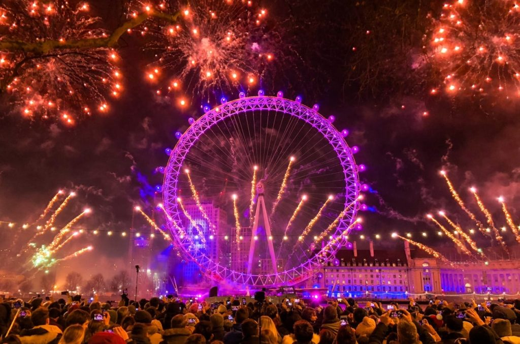 The firework show in London is one of the best NYE celebrations in the world.