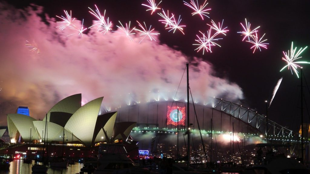 Fireworks in the Sydney Harbor. Sydney is one of the best places to celebrate new years eve in the world!