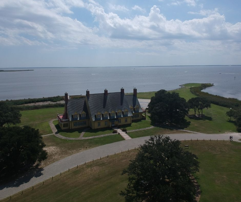 The historic Whalehead club is an icon of Corolla, NC.