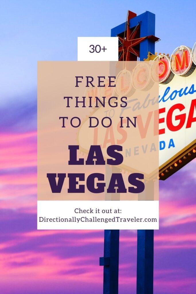Free Things to do in Las Vegas pin