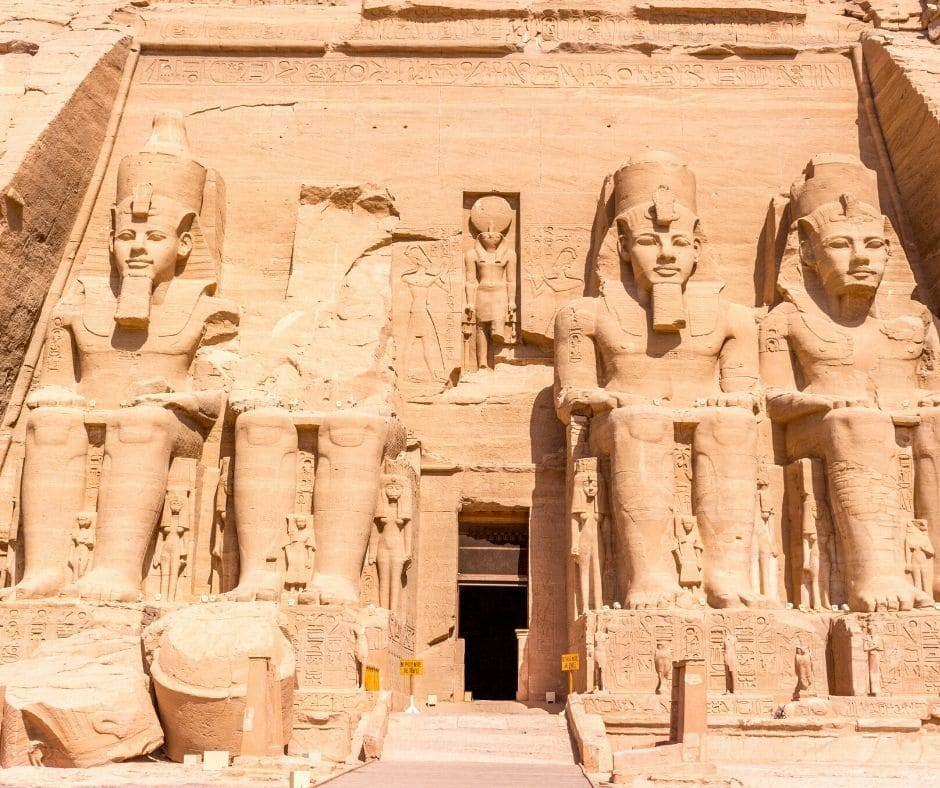 One of the best things to see in Egypt other than the pyramids is Abu Simbel. The four statues of Ramses II are gigantic.