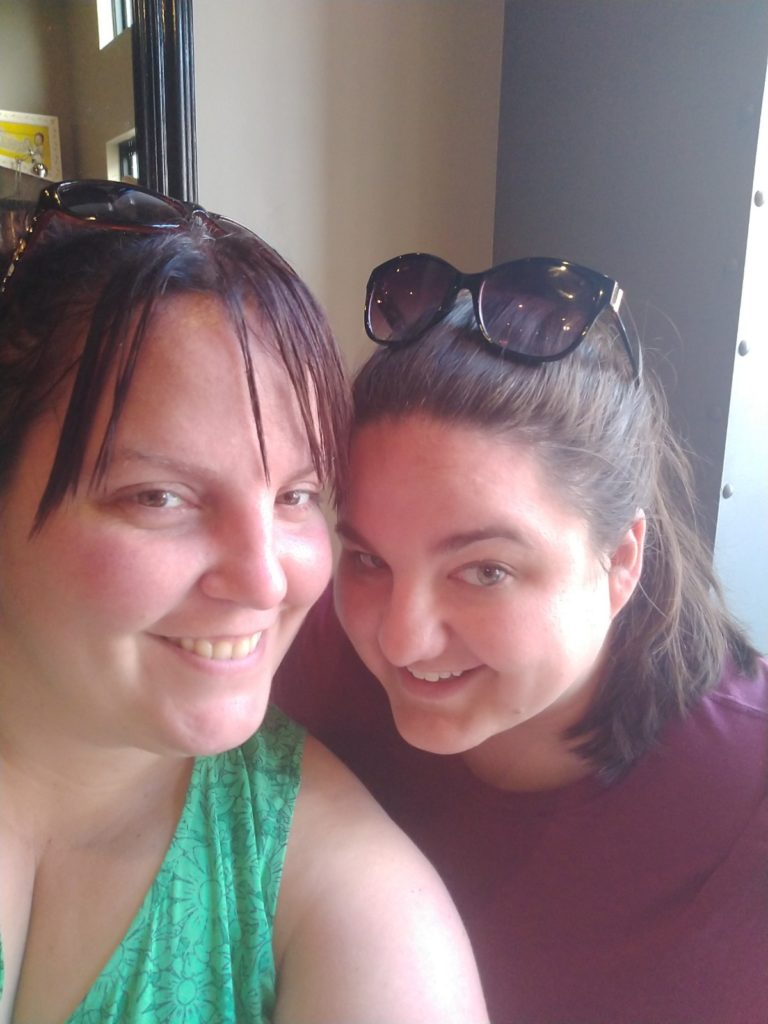 Me and Cass during our afternoon cocktail break during our weekend getaway to Annapolis