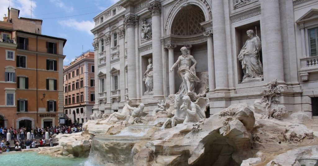 Travei Fountain, Rome.  A great stay at home date idea for couples who love to travel is dinner and a movie set in Rome!