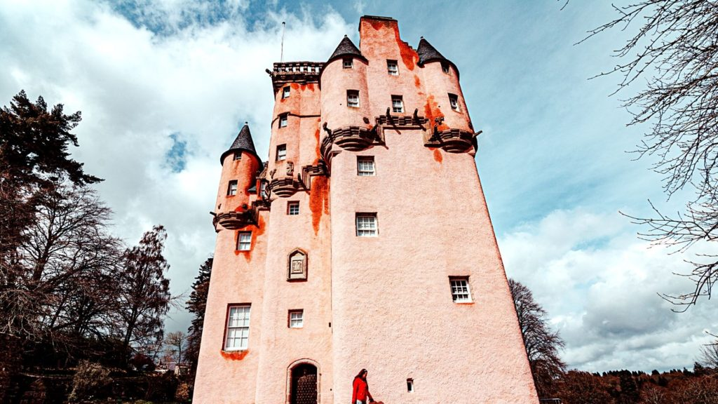 Craigievar Castle is one of the most beautiful castles in Scotland to visit.