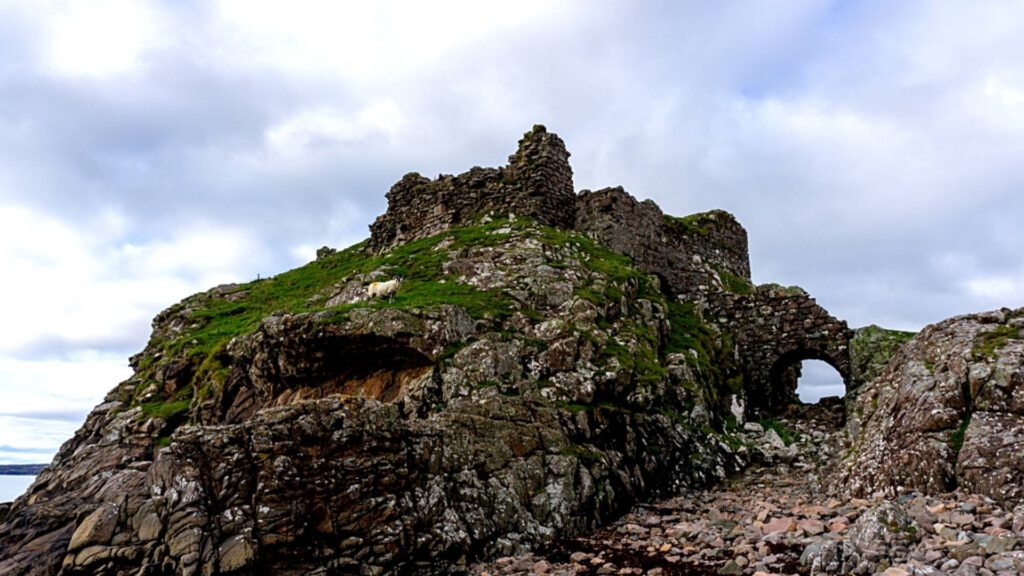 Dunscaith Castle is one of the best castles in Scotland to visit.