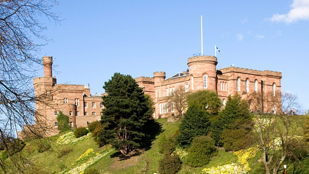 Inverness Castle is one of the most beautiful castles in Scotland to visit.