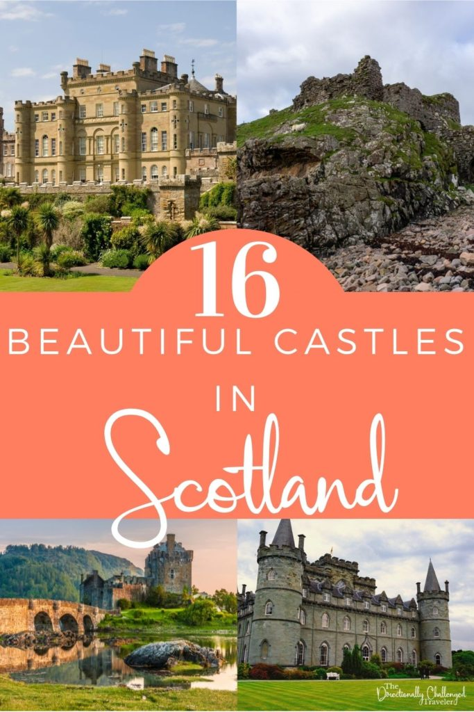 Beautiful castles in Scotland to visit pin