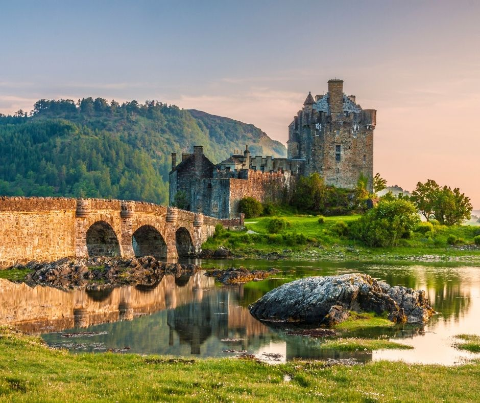 Eilean Donan Castle is one of the most beautiful castles in Scotland to visit.