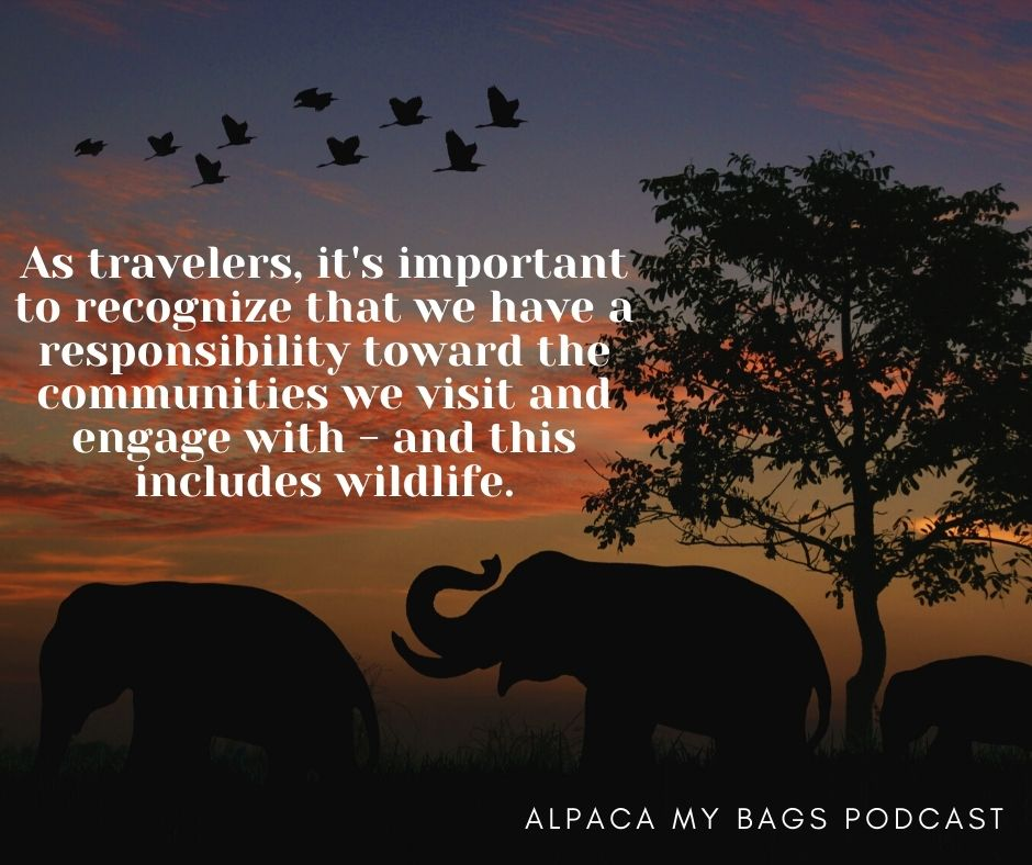 Best travel podcasts to inspire travel. Quote from Alpaca my Bags Podcast