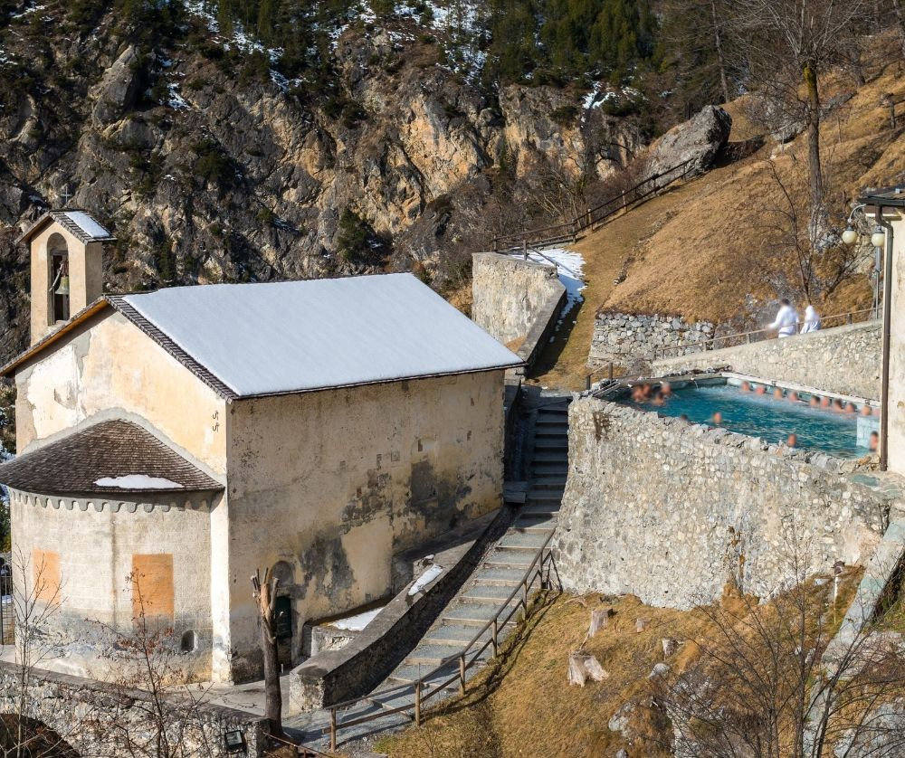 Enjoying the Bormio Spa is one of the best things to do in winter in Italy.