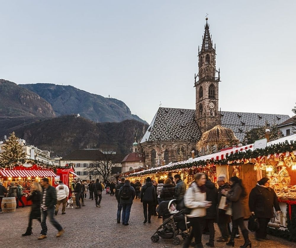 The Christmas Market in Bolzano is one of the best things to do in Italy in winter.
