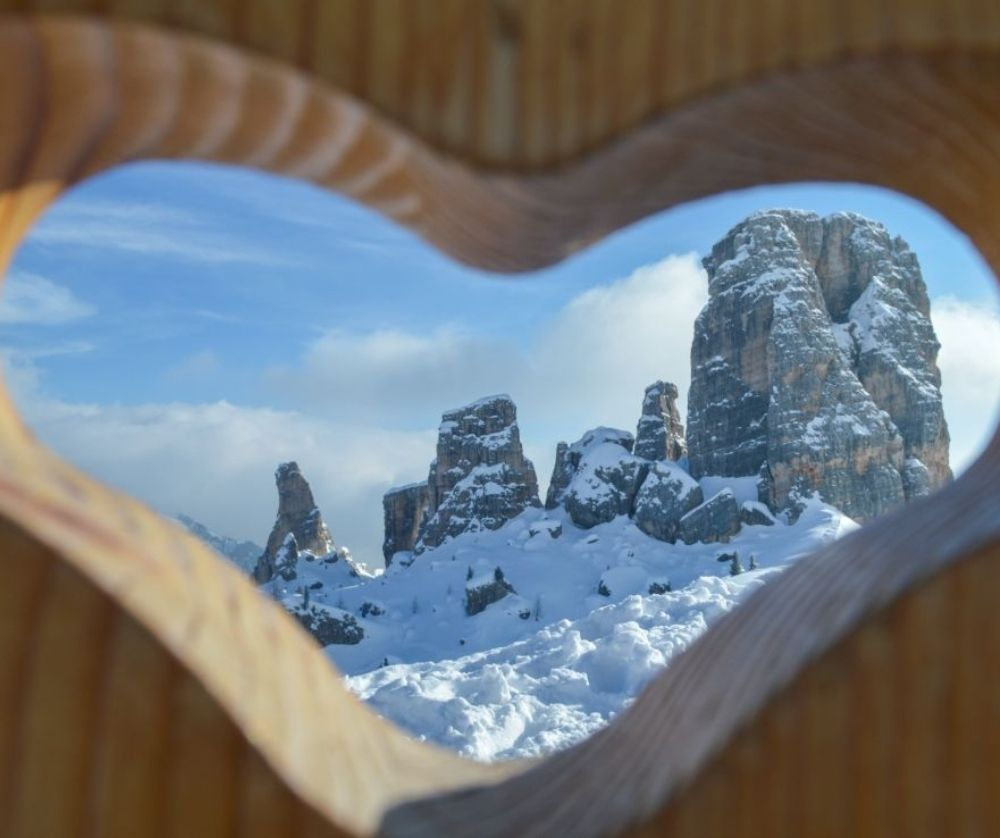The view of the mountains in Cortina. It is one of the best things to do in Italy in winter.
