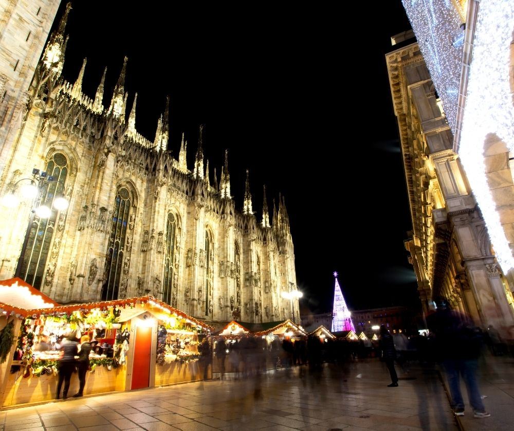 The Milan Christmas Market is one of the best things to do in Italy in winter.