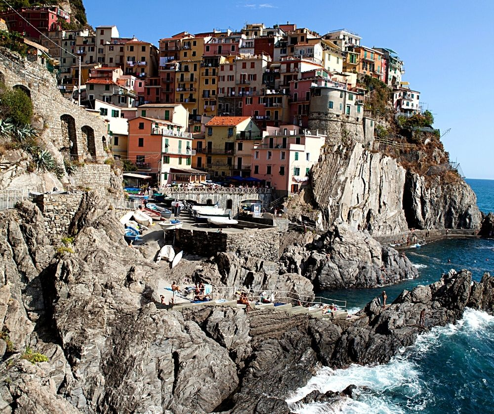 Hanging out in the marina is one of the best things to do in Manarola, Italy.